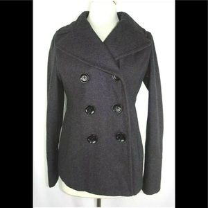 Michael Kors Peacoat Wool Blend Double Breasted